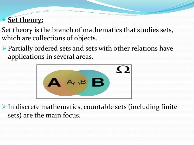 application of set theory in mathematics