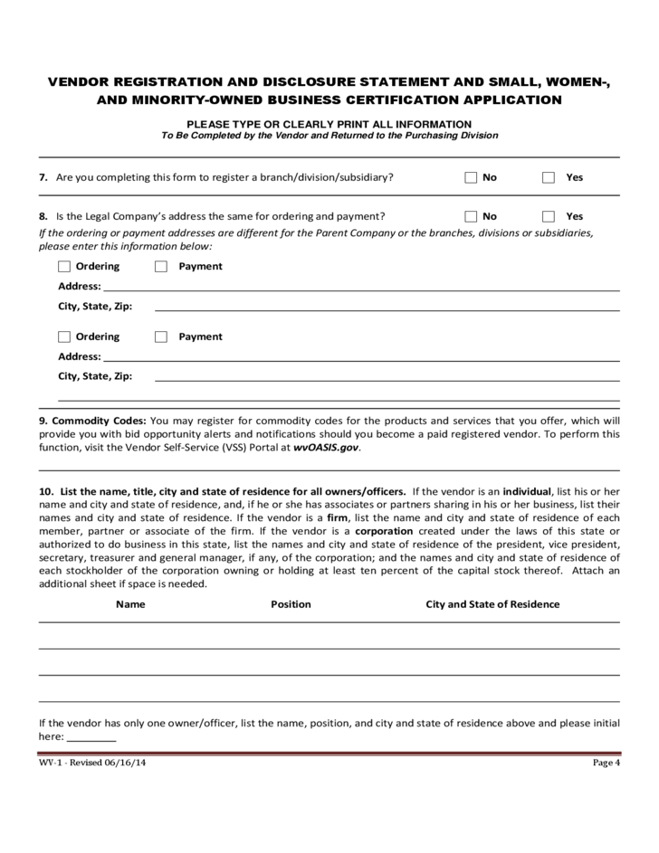 application folr a certificate of registration