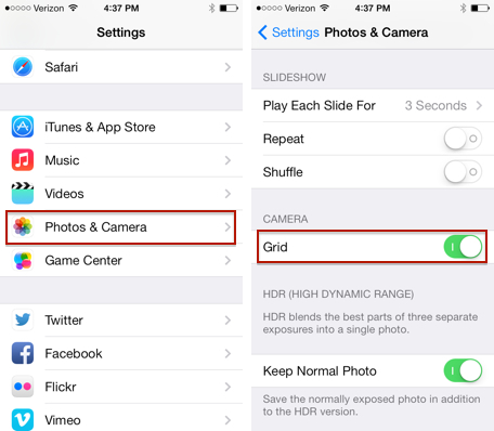 setting application on iphone samsung password