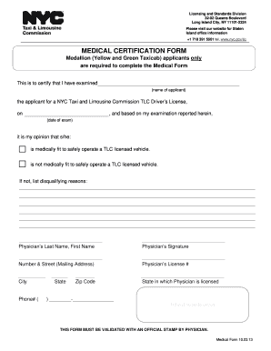 application form for drivers licence medical