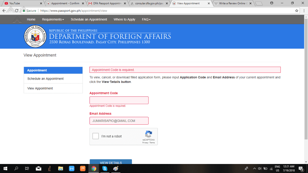 www dfa application for passport
